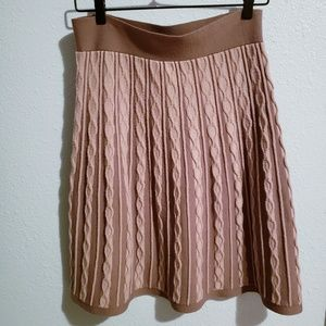 Mossimo Mauve Knit Cable Skirt